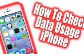 Comment faire pour vérifier comment beaucoup les données utilisées sur l'iPhone 5, 4 AT&T / Verizon