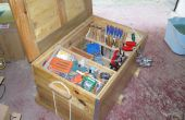ARCON para herramientas con madera de palet - coffre à outils en bois de palette