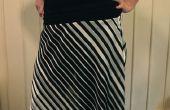 Comment faire un biais couper jupe avec ceinture large stretch