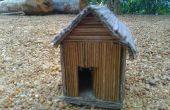 Maison décorative avec bâtonnets de noix de coco