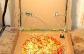 Radio cristal to Go : un récepteur Portable, sans batterie de cristal dans une boîte à Pizza