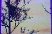 Coucher de soleil/marqueurs de peinture