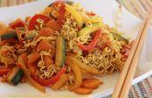 Nouilles sauté au Curry légumes