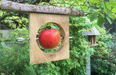 Mangeoire à oiseaux bois/chute de recyclé