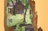 VIEUX bois peinture