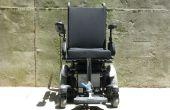 Instructions sur la maquette de la voie Slide Design pour levée/descente des repose-pieds monté au centre sur fauteuil roulant électrique