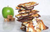Pomme au caramel chocolat écorce
