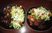 Steaks et pommes de terre fait délicieusement