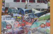 VW camper découpage personnalisé bulli van bus aircooled horloge cadre photo.