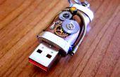 Commande d'instantané d'USB steampunk
