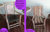 """""""Sur la clôture"""" Rustic Rocker - réparer un fauteuil à bascule avec clôture postes"""