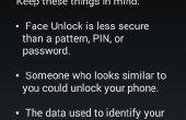 Comment définir le mot de passe reconnaissance visage dans android