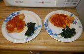 Chutney tomate Talapia w / verts fanées pour 2