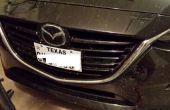 Arrêter les plaques d'immatriculation automobiles de cliquetis ou vous coupe