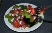 Salade d'épinards noyer fraise