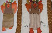 Projet de couture gratuit Thanksgiving : Comment transformer projet d'art papier de l'enfant dans une pièce d'art de tissu