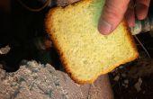 Avec du pain à la sueur d'un tuyau de cuivre qui fuit