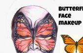 Maquillage pour le visage de papillon