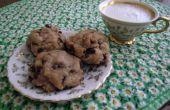 Biscuits aux brisures de chocolat facile qui se trouvent être végétalien