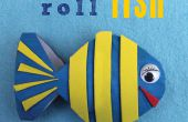 BRICOLAGE décoration poisson de rouleau de papier toilette.