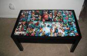 Table à café dessinée DC