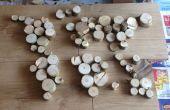 Monde en bois Carte