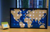 Sparkle Motion : Une LED carte du monde grâce aux données globales de trafic Twitter