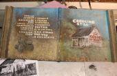 Peindre une couverture de l'Album sur l'étain d'une vieille grange