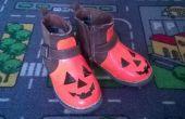 Citrouilles chaussures pour une petite citrouille