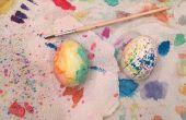 Oeufs de Pâques aquarelle