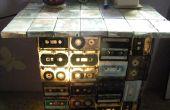 BRICOLAGE Table et lampe (à partir de vieilles cassettes audio)