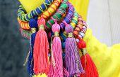 Corde et gland bracelets