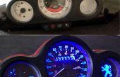 Rétro-éclairage de l'indicateur de vitesse & voltmètre Mod