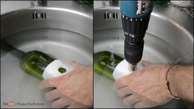 comment percer un trou dans une bouteille en verre     u00c9tape