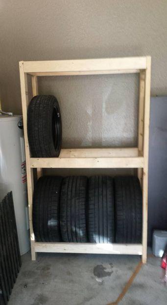 Support de pneu de budget bricolage ou tag res pour for Garage pour monter pneus