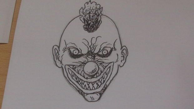 Comment Dessiner Un Visage De Clown Killer étape 6 Clown