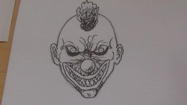 Comment Dessiner Un Visage De Clown Killer étape 6 Clown