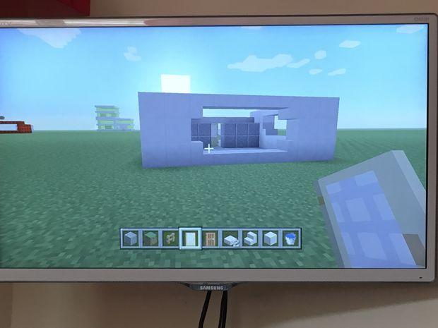 Maison moderne dans Minecraft / Étape 5: porte de derrière ...