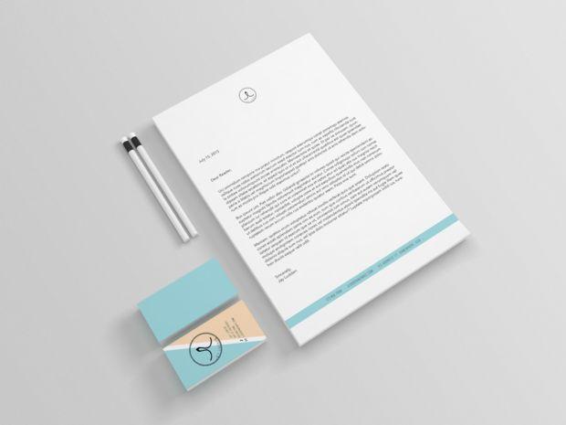 Personal Branding Logo Carte De Visite Papier En Tte Maquettes
