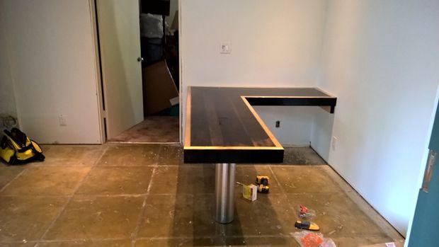 Récupération bois bureau en forme de l tubefr.com