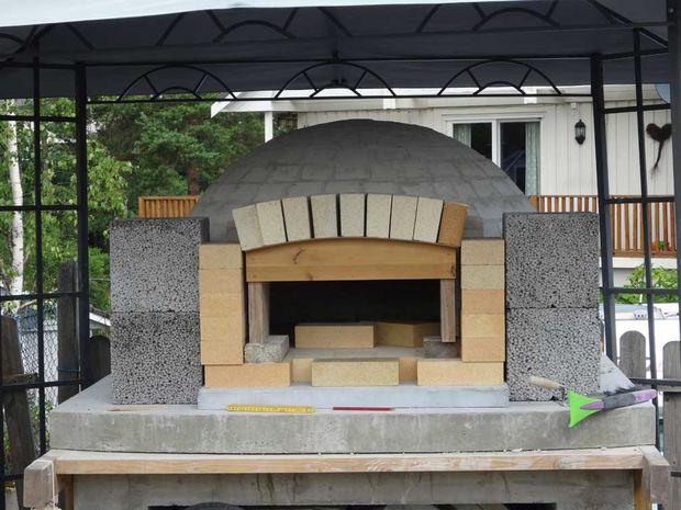 Construire un four pizza en plein air awesome recette de pte pizza facile et du four pain selon - Construire un four a pizza en plein air ...