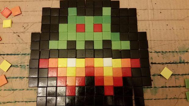 Mosaïque Carrelage Pixel Art Voiture étape 2 Planifier