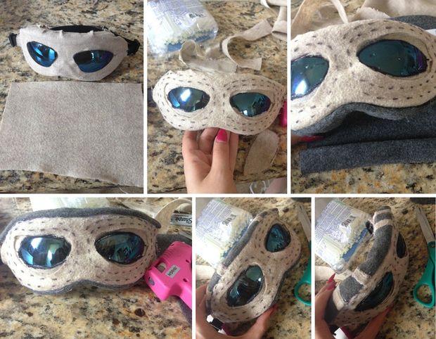star wars le costume rey bricolage tape 1 faire les lunettes personnel gants et bottes. Black Bedroom Furniture Sets. Home Design Ideas
