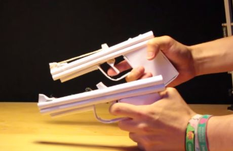 Pistolet qui tire des elastiques de papier - Comment fabriquer un pistolet ...