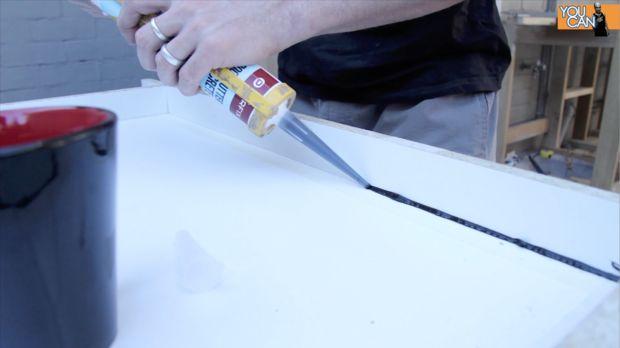 Comment faire un comptoir en b ton tape 2 ajouter le - Faire un comptoir en beton ...