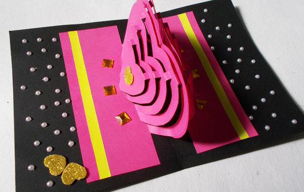 Carte De Bricolage 3d Kirigami Idees Comment Faire Des Cartes Pop Up Love Coeur Tubefr Com