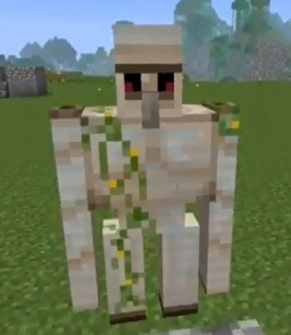 how to make an iron golem in minecraft pocket edition