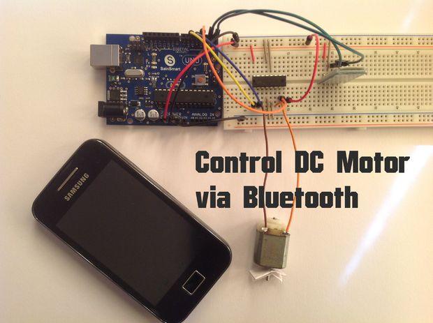 Arduino Moteur 224 Courant Continu Commande Via Bluetooth