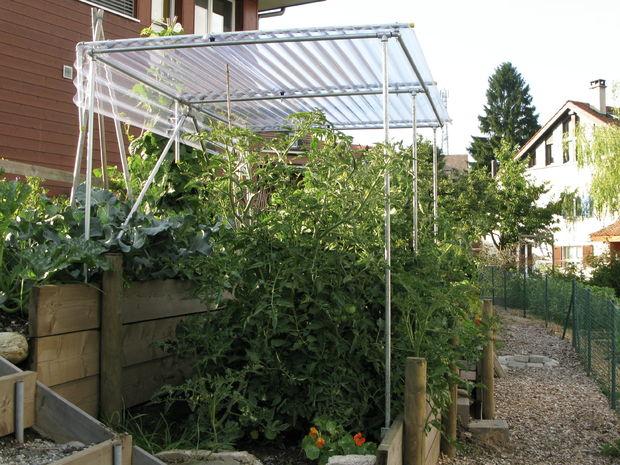 construire un abri pour la culture de tomates. Black Bedroom Furniture Sets. Home Design Ideas