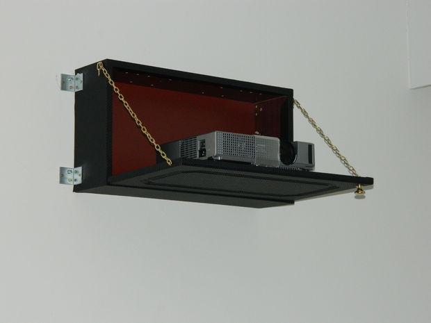 DIY « Caché » vidéo projecteur pliante plateau, look fibre de